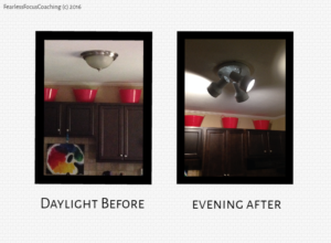 Kitchen Light Before & After